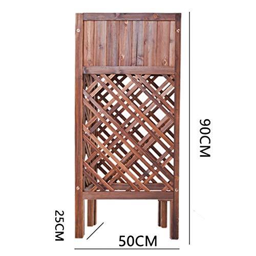 WXQ Garten-Zaun-Schirm Blumentopf Rack-Garten Barrier Pflanze Klettergerüst Karbonisierung Korrosionsbeständig, 6 Größen (Color : Brown, Size : 80X30X90CM)
