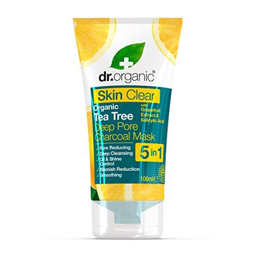 Dr. Organic Masque au Charbon à l'Huile de Tea Tree Bio Skin Clear 100 ml