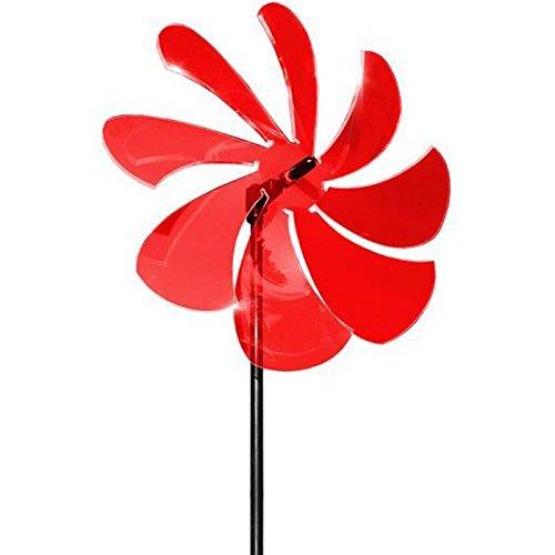 elliot 1023003 Lichtzauber Windrad 25 cm, inklusive 100 cm Stab, rot