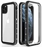 iPhone 11 Pro Max Waterproof Case, IP68 Certified Waterproof Dirt Proof Heavy Duty Protective Cover, Full Sealed Case with Built-in Screen Protector for iPhone 11Pro Max 6.5 Inch (White+Clear)