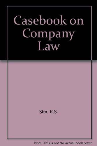 Casebook on Company Law