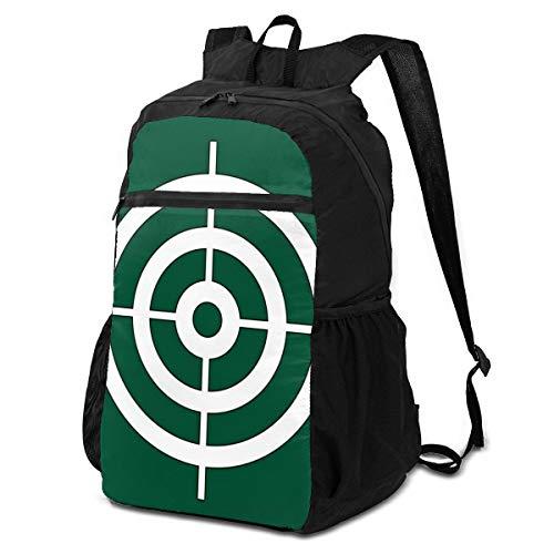 Travel Folding Backpack,Bullseye Shooting Target Rings,Waterproof,Portable Storage,Suitable for Sports,Shopping,Outdoor,School