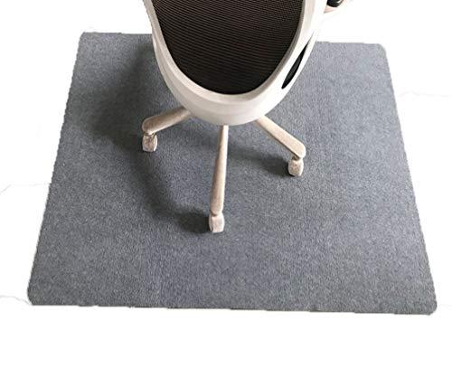 ping bu Bürostuhlmatte, Bodenschutzmatte für harte Böden, rutschfester Teppichschutz, mehrfarbig, für Rollstühle (grau, 140 x 80 cm)