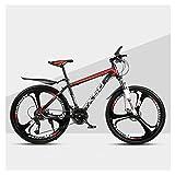 QJ Montaña para Bicicleta Varón Y Hembra Adulta luz del Camino Que compite con 24 Estudiante Urban Speed Choque de Bicicletas,b,24in
