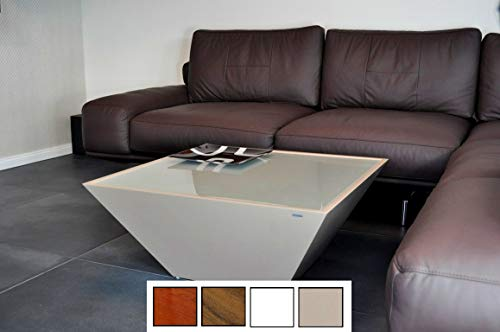 Design Couchtisch Tisch Carl Svensson Pyramide MV-3 Cappuccino Milchglas