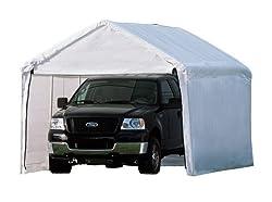 """ShelterLogic 10x20 1-38"""" 8-Leg Canopy with Enclosure Kit (White)"""