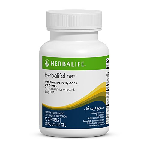 New Herbalifeline with Omega 3 Fatty Acids EPA DHA 60 Softgles