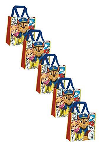 HOVUK Bolsas de la compra para niños hechas de poliproplyne con estampado de Disney personaje Paw Patrol Jump Multicolor, utilizable para unisex de 3 años