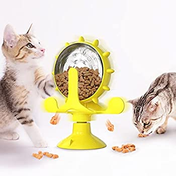 Kpcxdp Pet Chat Jouet Fuite de l'alimentation Alimentation Distributeur d'animaux de Compagnie Fournitures à Vent Interact Entraînement Pet Jouet avec Ventouse