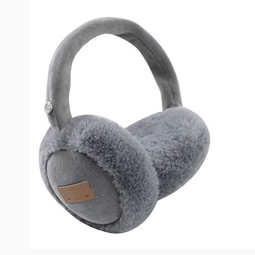 QJJ Popular Auriculares de Auriculares Bluetooth Diseñado para Invierno Earmuffs Cálidos para Hombres y Mujeres Inalámbricos Universal Earmuffs Peluche Puede Escuchar música/Llamadas/Juegos, A