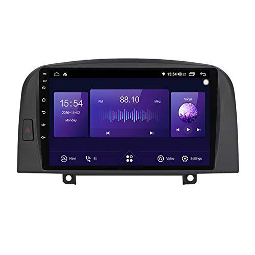 ADMLZQQ Android 10 autoradio Navigazione per Auto Stereo Lettore multimediale GPS Radio per Hyundai Sonata NF 2004-2008 Supporto DSP/BT/SWC+ Telecamera di Backup,7862 4g+WiFi:6+128g