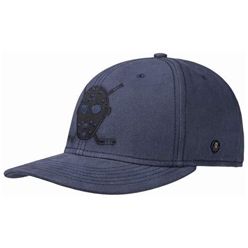 Stetson Cali Brushed Twill Cap Basecap Baseballcap Baumwollcap Kappe Herren - Snapback, mit Schirm, Futter Herbst-Winter - One Size blau