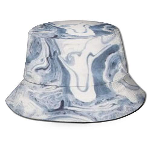 Stunning Marble Pattern (14) Aesthetic Reversible Summer Sun Bucket Hat Outdoor Cap Travel Beach Fishing Golf Men Women Teen Black