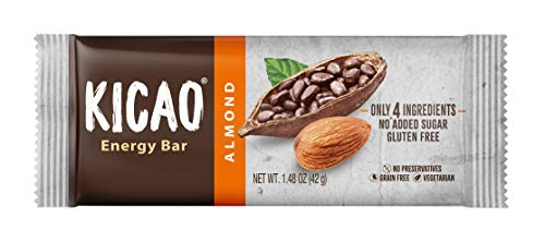 Kicao Bar, Cacao Based Gluten Free Snack Bar, Almond Flavor
