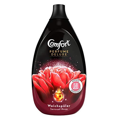 Comfort Perfume Deluxe Sensual Rose (ultrakonzentrierter Weichspüler 58 Waschladungen), 1er Pack (1x 870 ml)