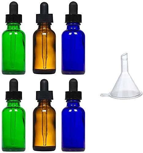 アロマオイル ガラス 精油瓶 アロマ保存容器 旅行用 小分けボトル スポイト付き 遮光瓶 30ml 6本セット