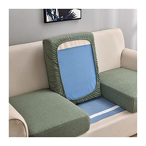 OYZK Wasserbeständiges Sofasitz Kissenbezug Sofa-Sitzschützer Dicker Stoff Sofa-Sitzbezug für Wohnzimmer (Color : Pine Green, Specification : 2 Seater XL)