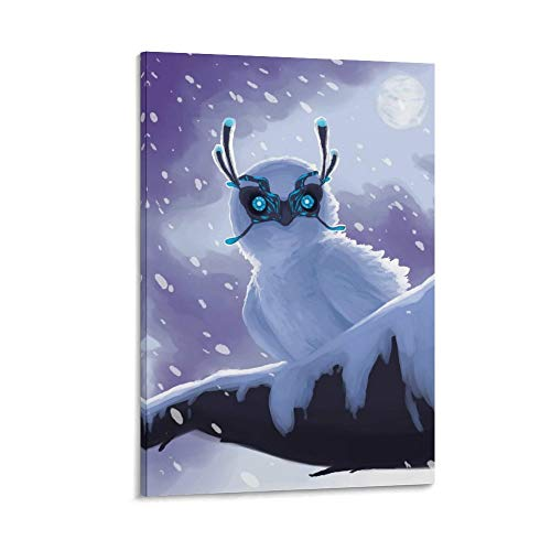 FWUYU Ark Survival Evolved Schnee-Eule, Kunst-Poster, dekoratives Gemälde, Leinwand, Wandkunst, Wohnzimmer, Poster, Schlafzimmer, Gemälde, 60 x 90 cm