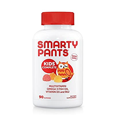 SmartyPants Kids Formula Daily Gummy MultivitaminB12 for Energy, 120 Count (30 Day Supply)