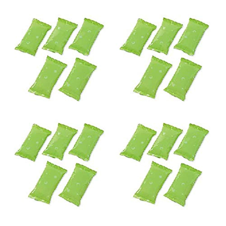 を除くトライアスリートライター保冷ジェル 20個組 保冷剤 小型 11.5cm x 6cm ソフトタイプ 冷やしても硬くならない