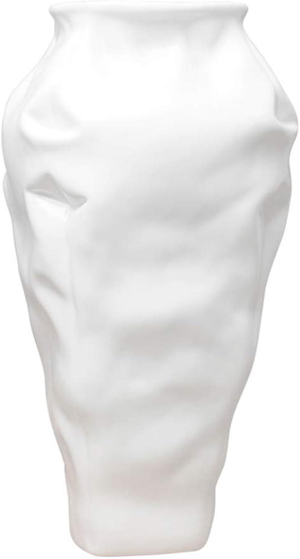 LXF Abstrait Créatif en Verre en Céramique Décoration Blanc Noir Salon Bureau Table à Manger Bureau De Mode De Maison à Vin Cabinet TV Comptoir Décoration (Taille   C)