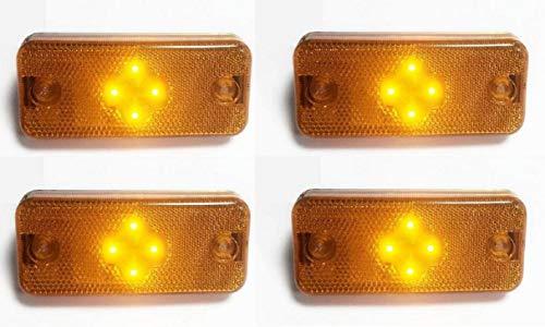 Preisvergleich Produktbild 4x LED orange Blinker Seitenmarkierungsleuchten Lampen für FE2,  FM2,  Ducato 2006>,  Boxer 2006>,  Midlum,  Premium,  Kerax,  Magnum