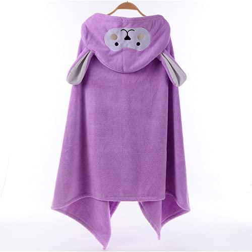 sochampion Toalla suave para niños con capucha, toalla de playa, poncho de lana para bebé, pañales de muselina de algodón, 70 x 140 cm
