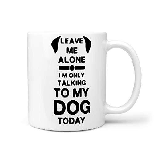 Generic Branded Office Today I'm Talking to my Dog - Taza de cerámica con asa, diseño retro, color blanco