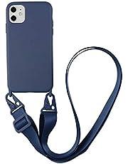 Jacyren Fodral iPhone XS Max mobiltelefonfodral iPhone XS Max skyddande mobiltelefonkedja, mjukt silikon halsband (avtagbart) fodral, silikon halsband stötdämpare fodral för iPhone XS Max (6,5 tum)
