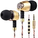 Sephia SP4080VC Wired in Ear Headphones Earbuds with Microphone Volume Control and Tangle-Free Cord
