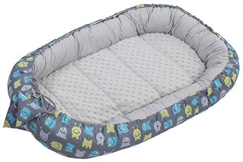 Reductor de cuna para bebé, 90 x 50 cm, 100% algodón, para bebé, diseño de copo
