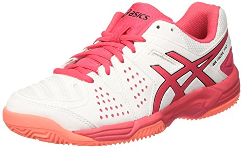 Asics Gel-Padel Pro 3 Sg, Zapatillas de Tenis Mujer, Blanco (White / Rouge Red / Flash Coral), 41.5 EU