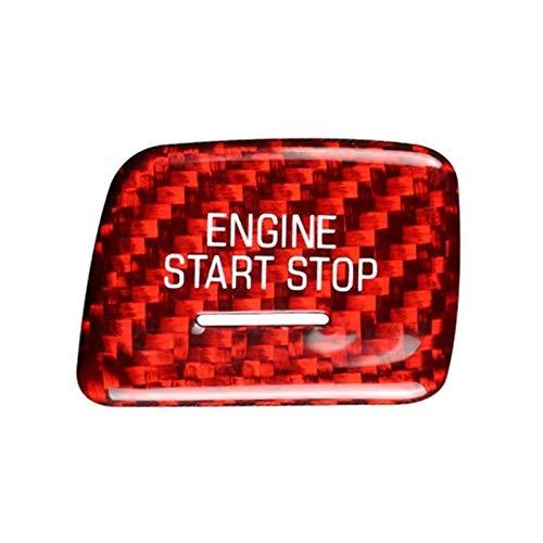 zhuzhu Deporte de Fibra de Carbono Rojo sin Llave de Arranque de Motor de Arranque de Motor Ajuste for Corvette C7