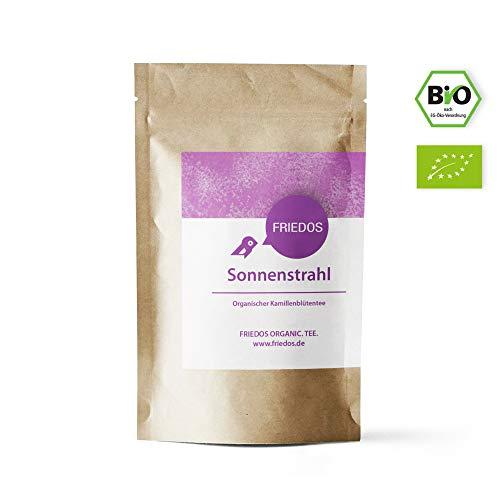 Friedos Tee organischer Kamillentee Sonnenstrahl 100g - Bio Kamillenblütentee lose Bio Zertifizierung DE-ÖKO-006