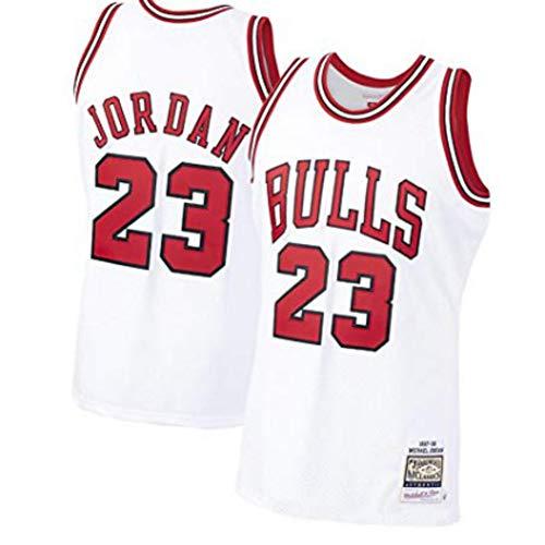 Fei Fei Chicago Bulls #23 Michael Jordan Retro Camiseta de Jugador de Básquetbol Bordado Transpirable Resistente al Desgaste Camiseta de Fan de Hombres(Tamaño: S-XXL)