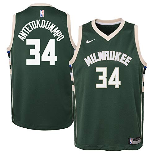 Nike Youth Large Giannis Antetokounmpo Milwaukee Bucks Icon Edition Jersey - Green