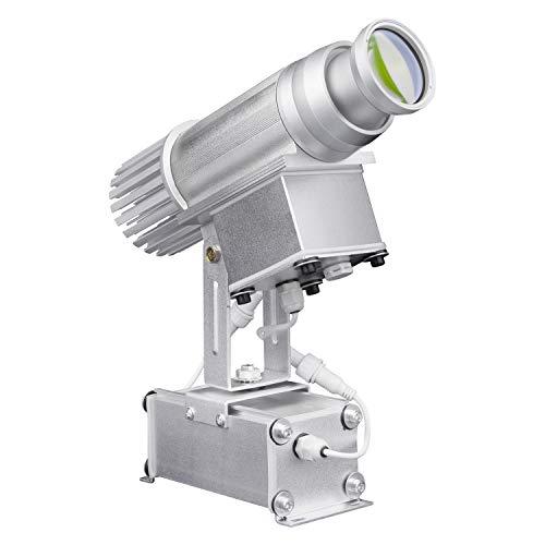 WUZHENG HD LED Logo GOBO-Projektor 35W Individueller Logo-Lichtprojektor Für Party-Beleuchtung Im Innen- Und Außenbereich, Hochzeit, DJ-Hochzeit, Laden,Silver,Outdoor
