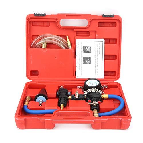 Cocoarm Kühlmittel-Nachfüllwerkzeug, Füllsatz Kühl- und Wasserpumpenwerkzeug Kühlsystem-Vakuumspülung und Kühlmittel-Nachfüllsatz mit Gummischutzhülse und Druckentlastungstal für Auto-SUV-Van-Kühler