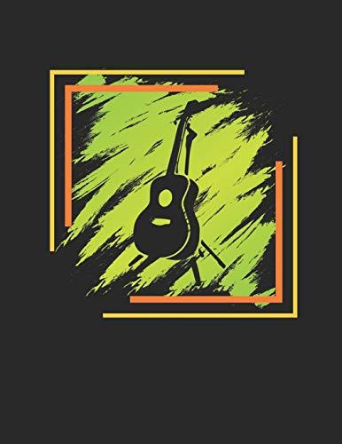 Gitarren Tabulatur & Akkord Heft: Akustik Gitarren Notenheft 110 Seiten mit leeren Tabs und Akkord Feldern. Tolle Geschenk Idee für Gitarristen, Gitarren Lehrer und Schüler.