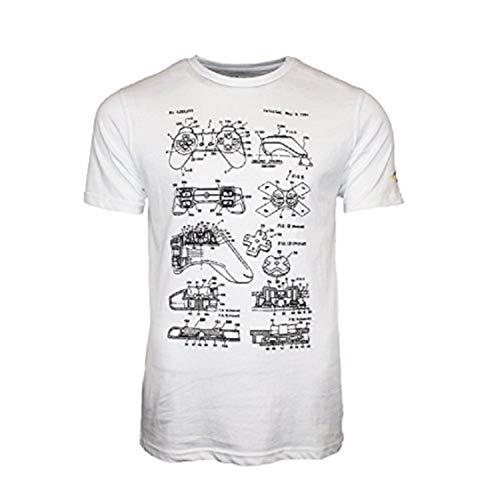 Camiseta Blanca Sony Retro Controller T-XL