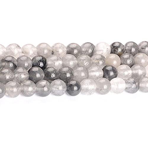 Nube de piedra natural de cristal redondo cuentas sueltas para hacer joyas pulseras DIY costura accesorios 4/6/8/10/12mm H7173 12mm sobre 30pcs