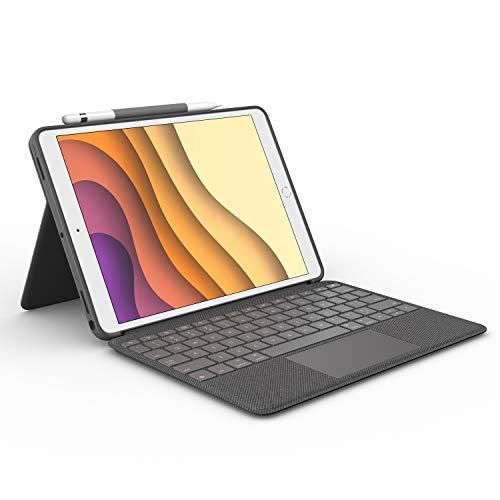 ロジクール iPad Air 第3世代 iPad Pro 10.5 インチ 対応 トラックパッド付き キーボードケース Smart Connector 接続 Combo Touch iK1093BKA 英語配列 薄型 バックライト付き スマートコネクタ 国内正規品 2年間メーカー保証