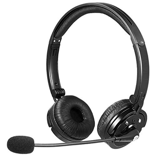 LUXMO Bluetooth Stereo Headset w/Noise Cancelling. Lightweight and Foldable. Great for Office use/Call Centers/Truck Drivers/Skype & Zoom Meeting. New Model: BH-M20C