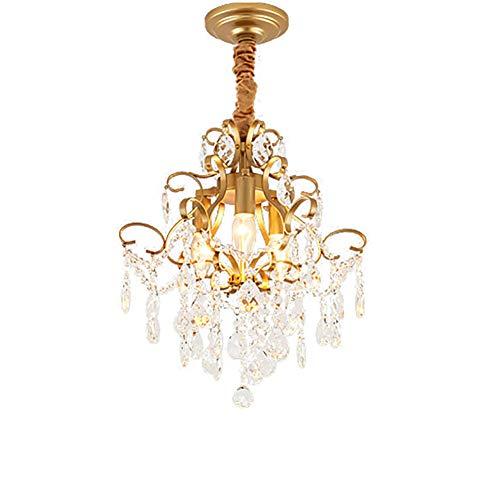 Cristal Lámparas De Araña E14 3 Luces Ajustable Lámpara Colgante Moderno Lujo...