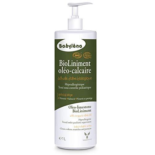 BABYLENA - Liniment Oléo Calcaire Bio 1L À L'Huile D'Olive 1000Ml