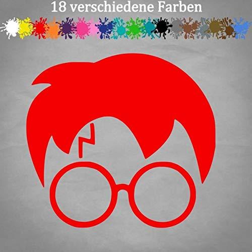 Zauberlehrling Sticker 13x12cm Harry Potter Hogwarts Kleber Decal in 18 Farben 31-Rot