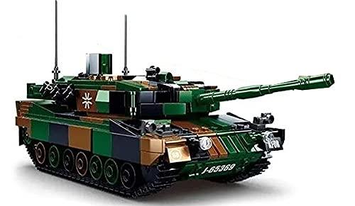 Brigamo Bausteine Panzer Leopard 2 A5 inkl. 2 Bundeswehr Soldaten, Klemmbausteine Bauset
