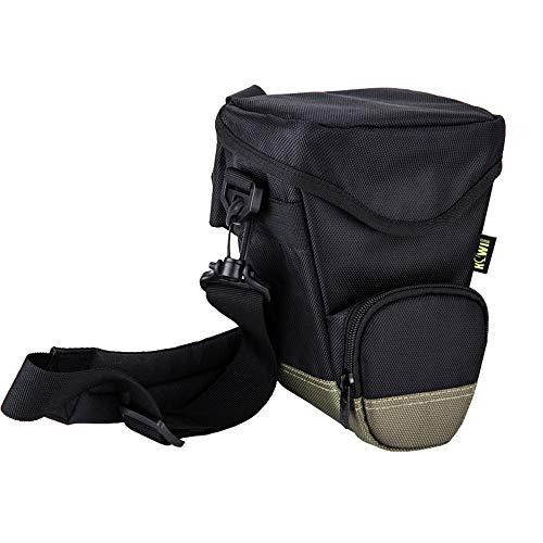 Bolsa de protección acolchada resistente al agua para cámara Nikon D7500 D7200 D5600 D5500 D5300 DSLR SLR SLR sin espejo para cámaras fotográficas con flash de batería, bolsa de arranque