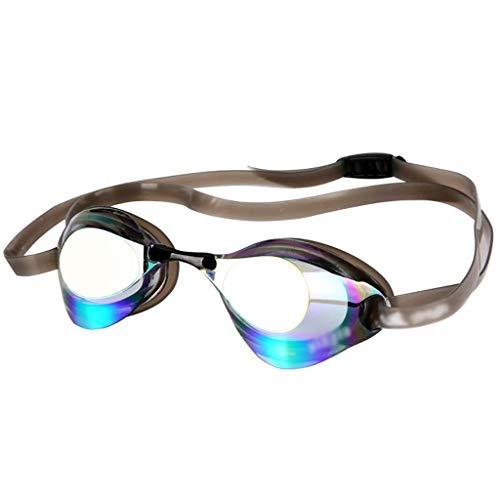 You are the best Sono i Migliori occhialini con placcatura elettrolitica per Uomini e Donne Professionali di Nuoto, con Pellicola cromata Impermeabile e Anti-Appannamento, 3 Colori, Grigio.