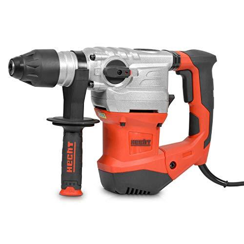 Starkes Hecht Bohrhammer Set mit 1500 Watt (Brandneue Version, Zerstörer 2020) – Mit Zubehör, Meißel und Koffer – Perfekt für Beton – Mit Meißelfunktion (Rot, 6 Joule)